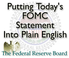 A Simple Explanation Of The Federal Reserve Statement (April 25, 2012)