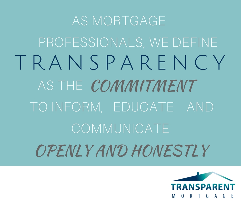 Transparency when purchasing a single family residence