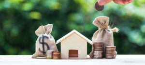 House and money refinancing concept